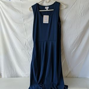 LuLaRoe blue tank dress size large